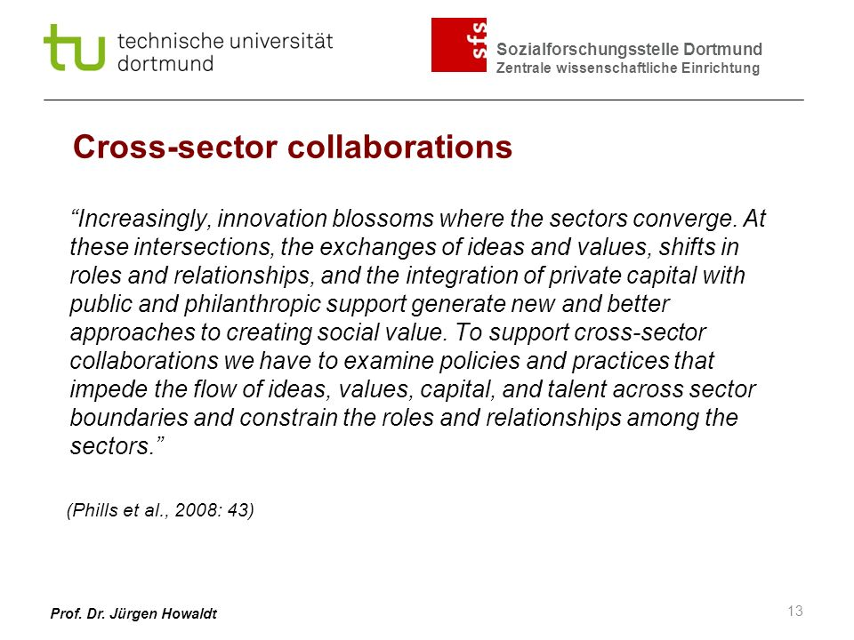 Cross-sector collaborations