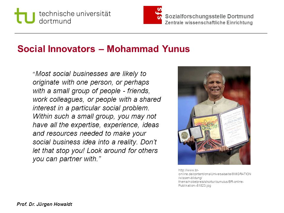 Social Innovators – Mohammad Yunus