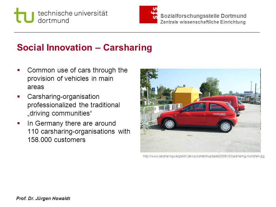 Social Innovation – Carsharing