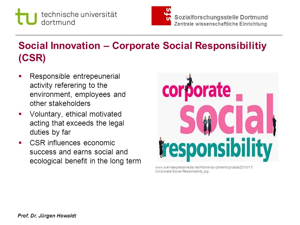 Social Innovation – Corporate Social Responsibilitiy (CSR)