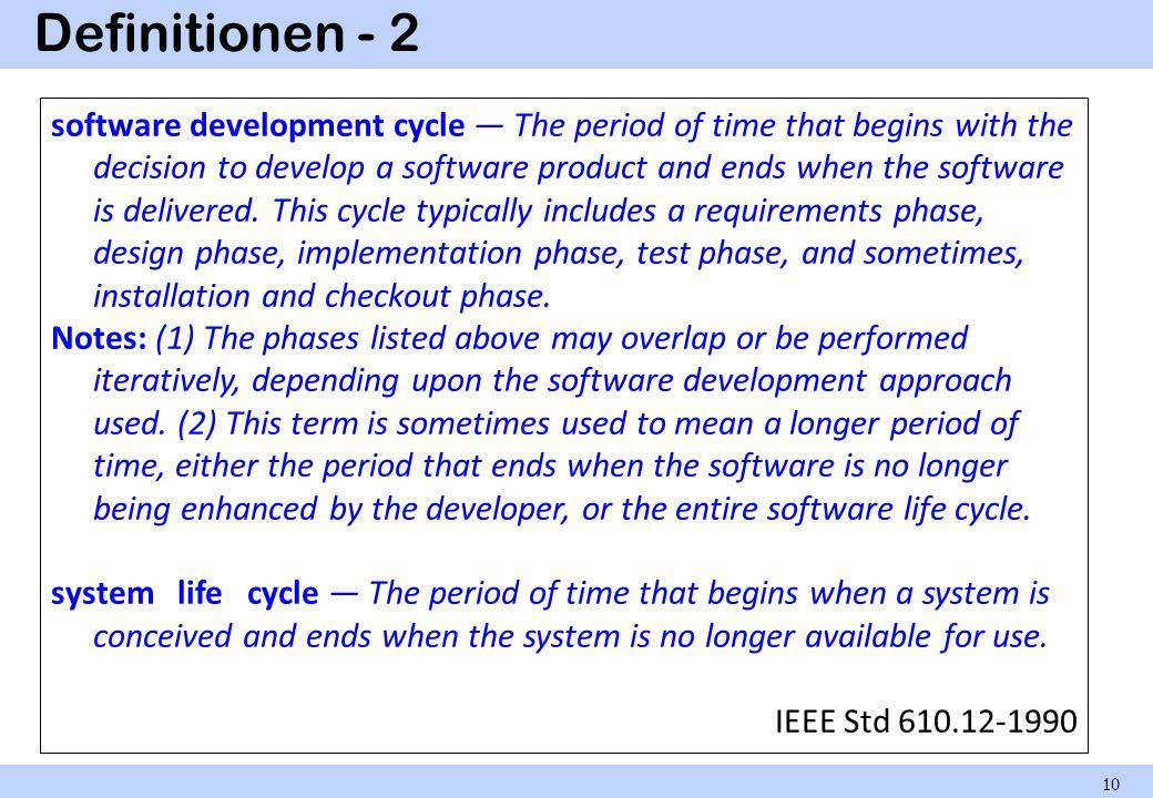 Definitionen - 2