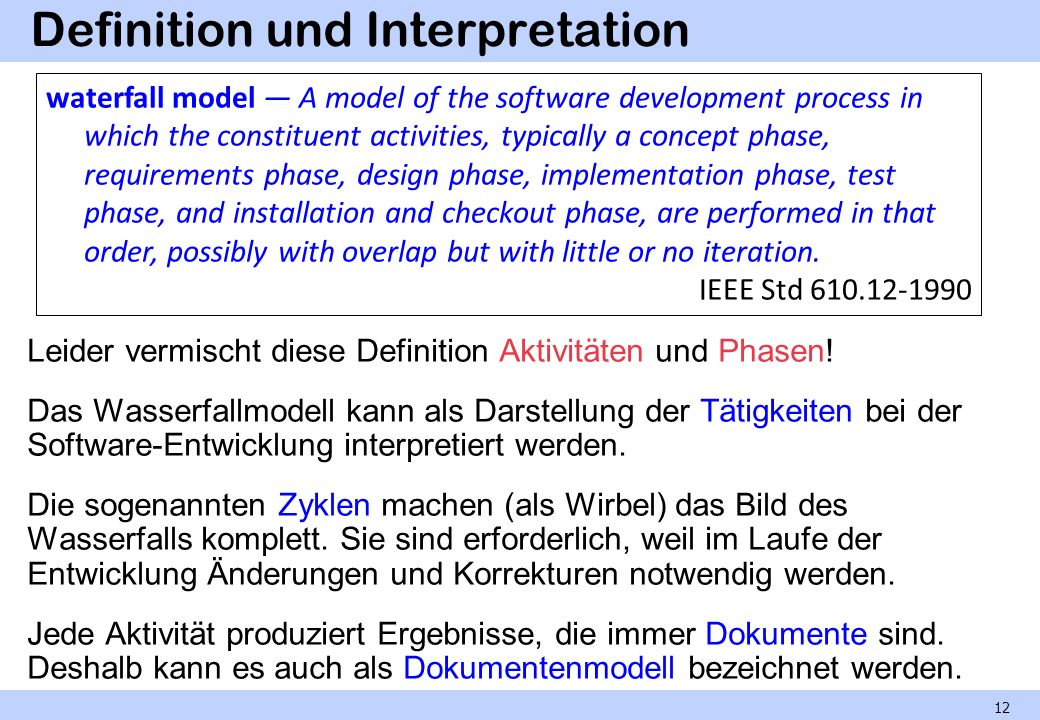 Definition und Interpretation