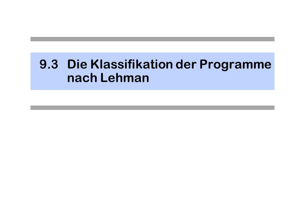 9.3 Die Klassifikation der Programme nach Lehman