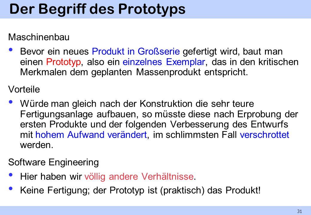 Der Begriff des Prototyps