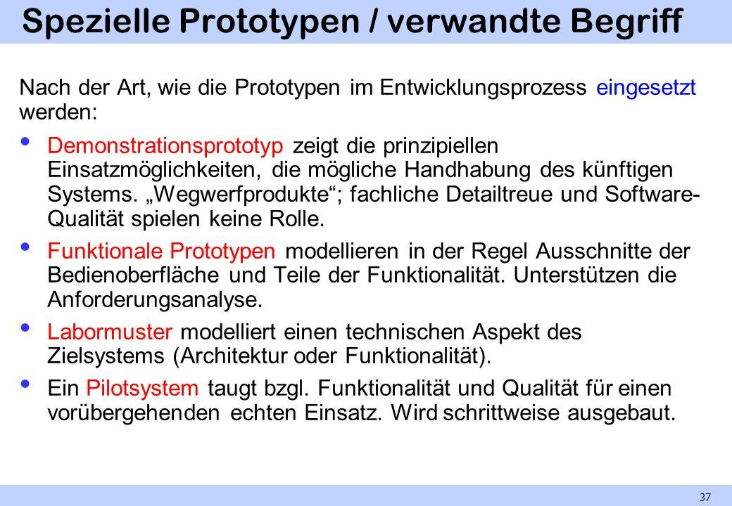 Spezielle Prototypen / verwandte Begriff