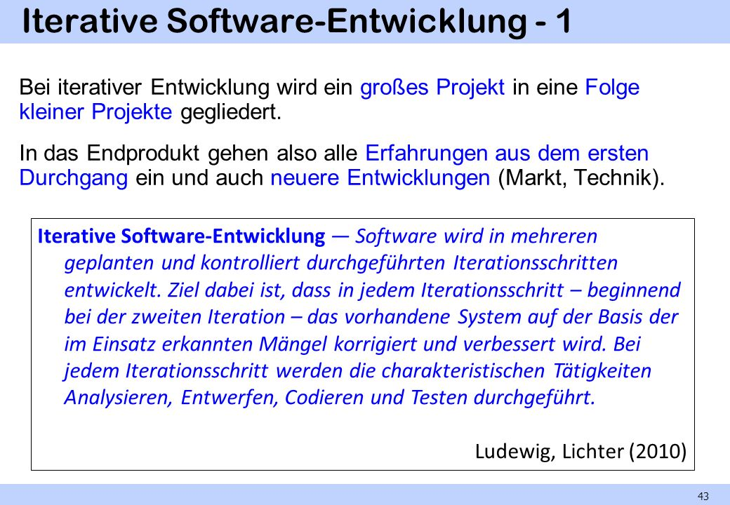Iterative Software-Entwicklung - 1