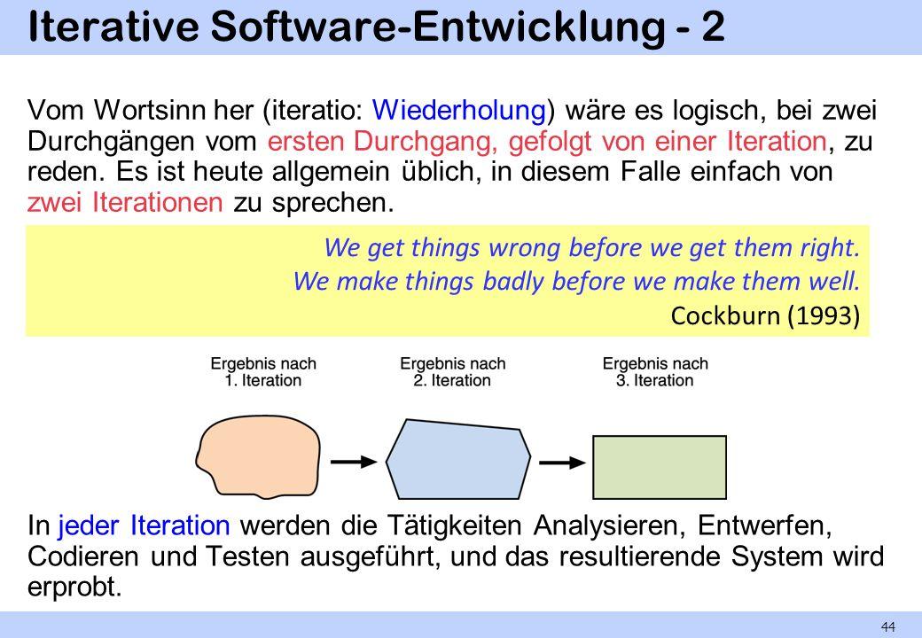 Iterative Software-Entwicklung - 2