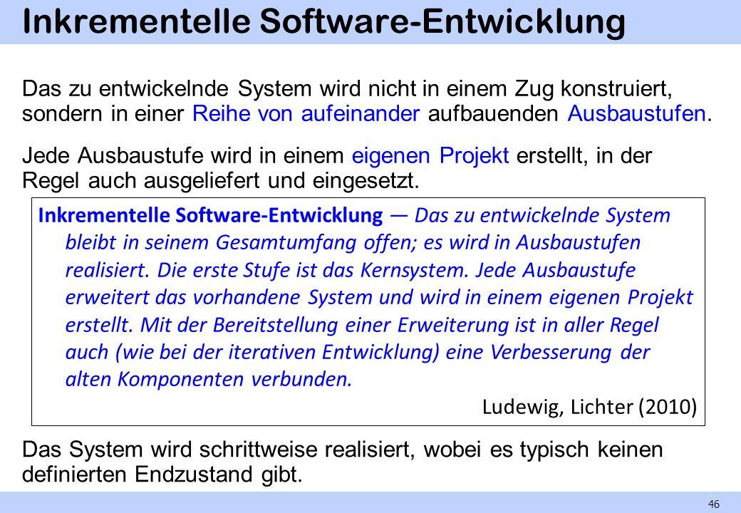 Inkrementelle Software-Entwicklung