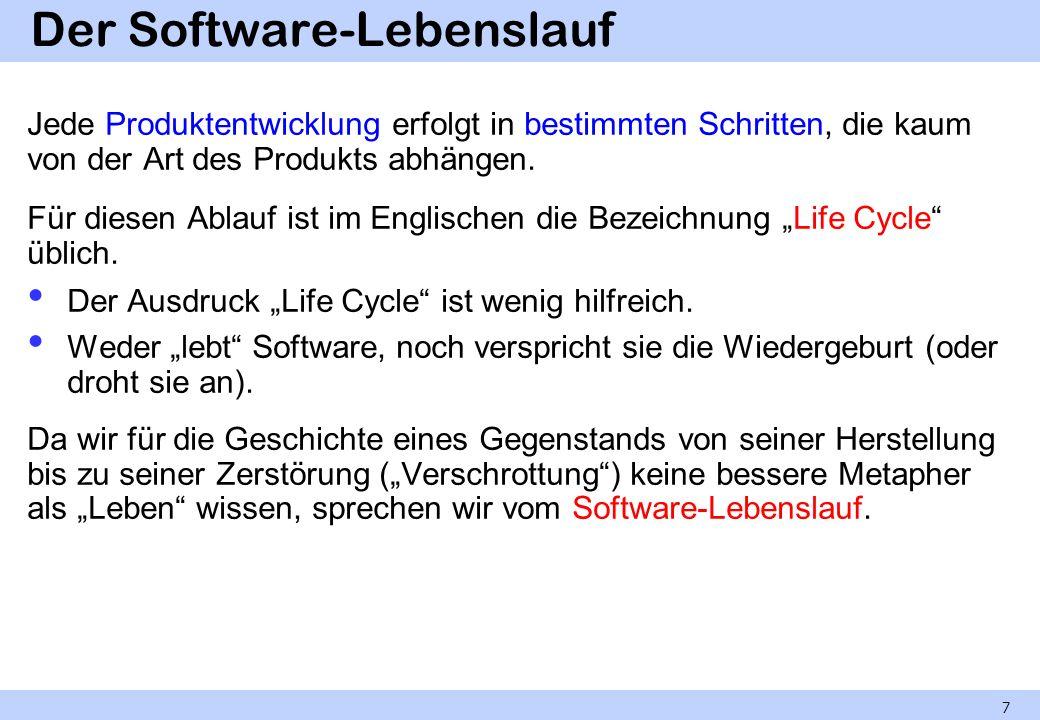 Der Software-Lebenslauf
