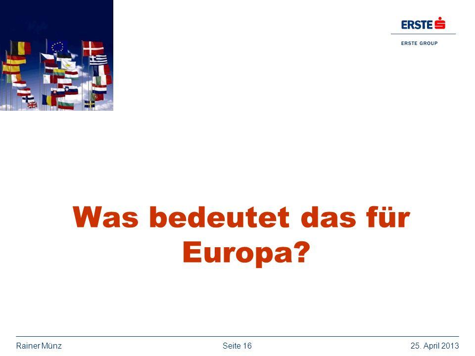 Was bedeutet das für Europa