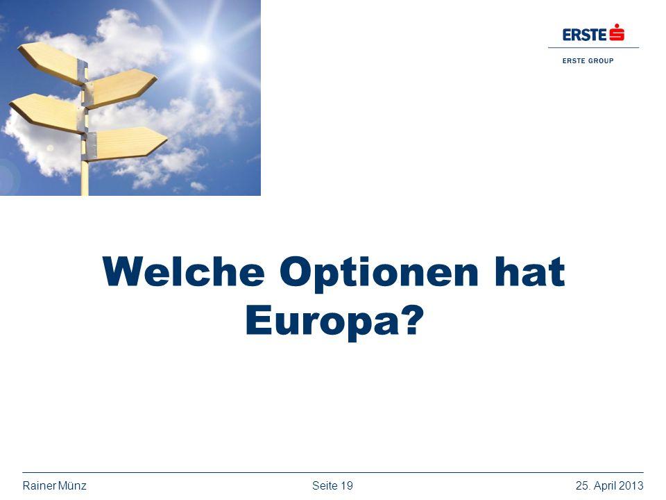 Welche Optionen hat Europa