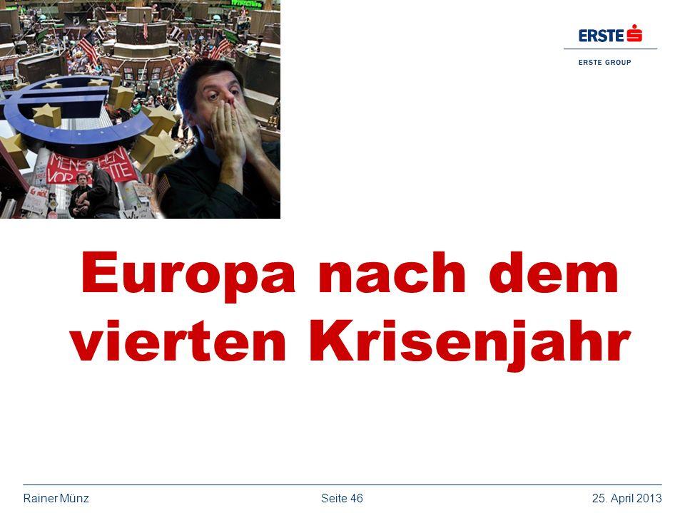 Europa nach dem vierten Krisenjahr