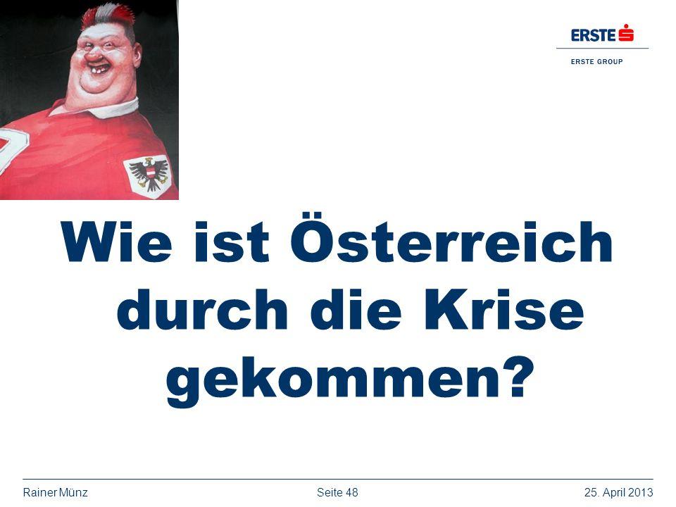 Wie ist Österreich durch die Krise gekommen