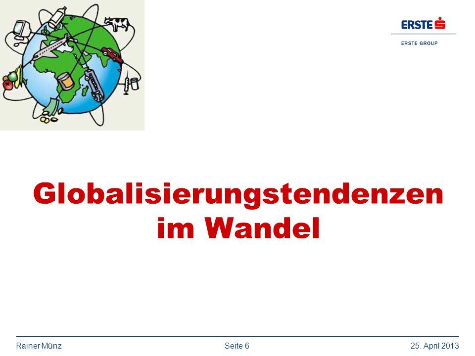 Globalisierungstendenzen im Wandel