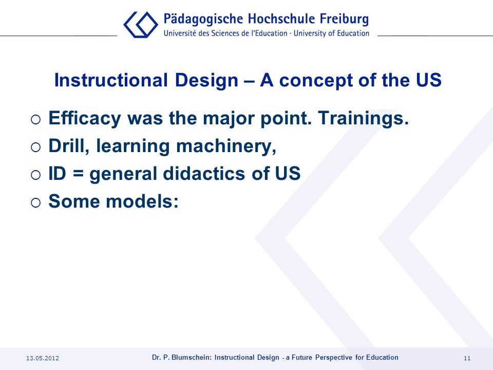 Instructional Design – A concept of the US