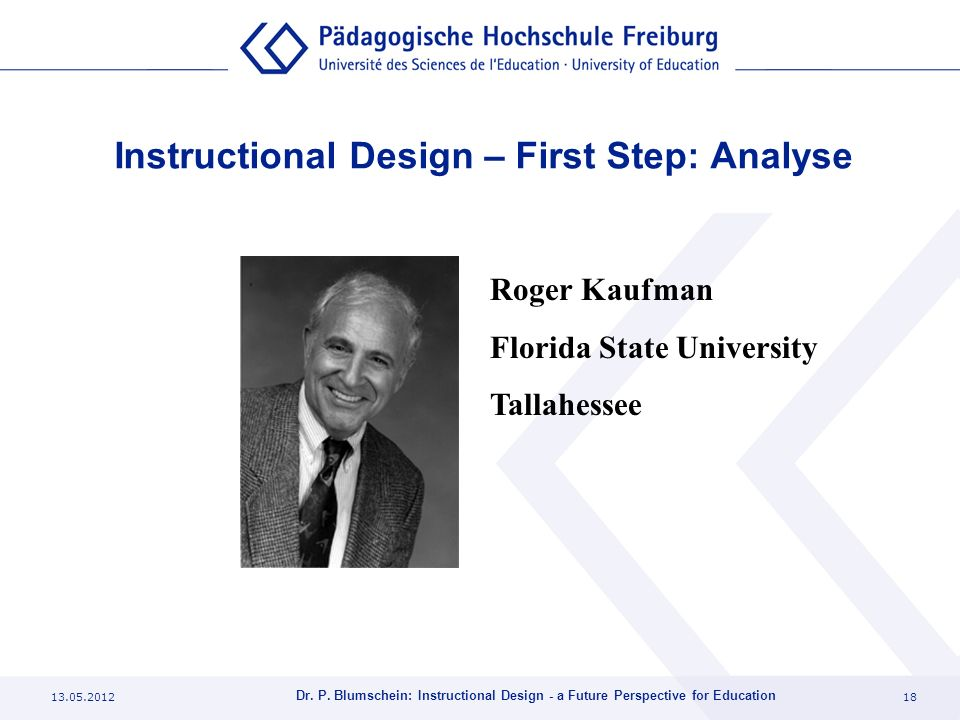 Instructional Design – First Step: Analyse