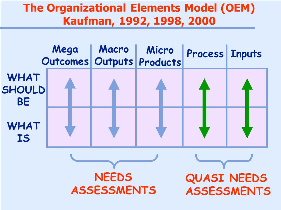 The Organizational Elements Model (OEM)