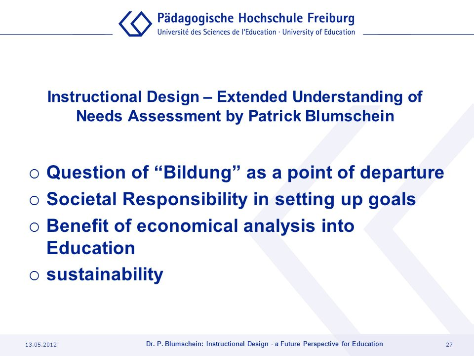 Question of Bildung as a point of departure