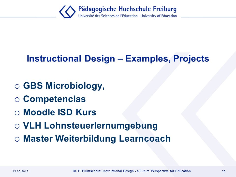 Instructional Design – Examples, Projects