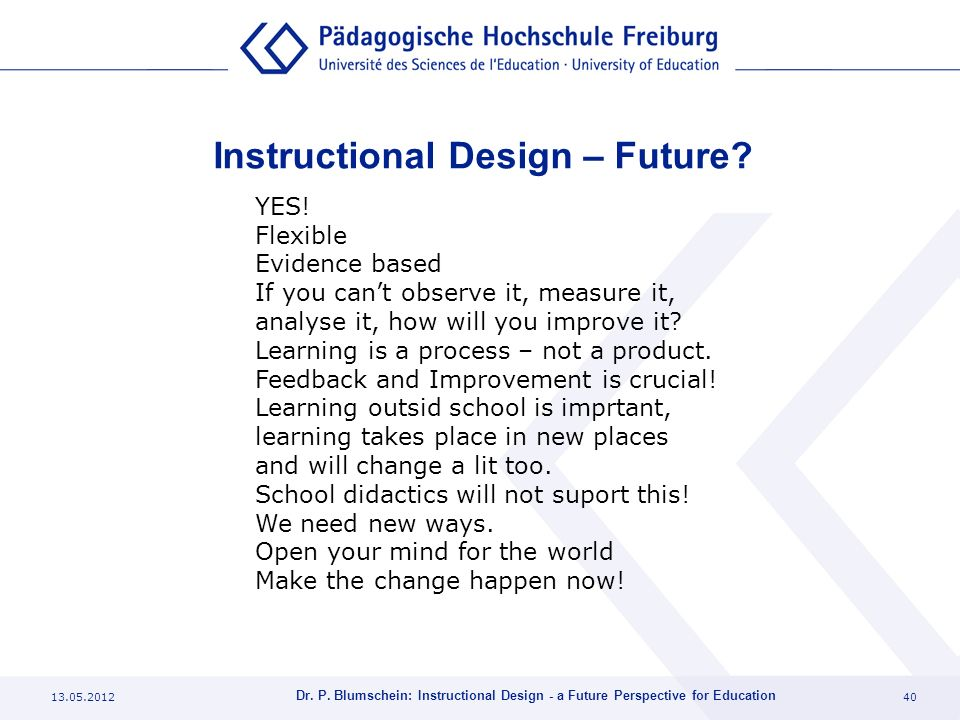 Instructional Design – Future