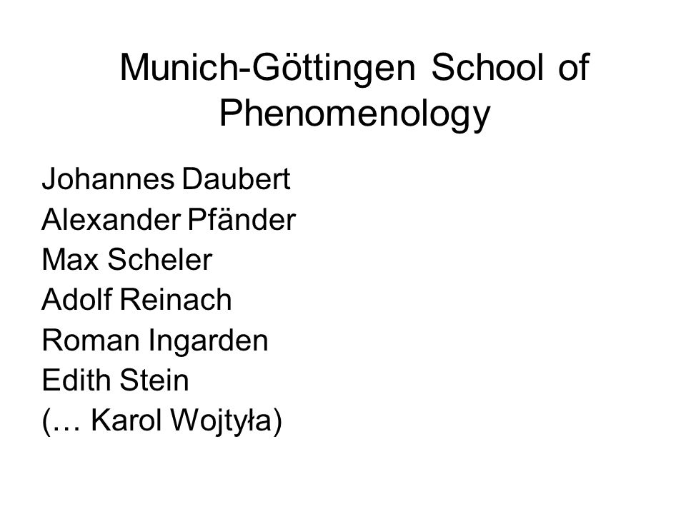 Munich-Göttingen School of Phenomenology