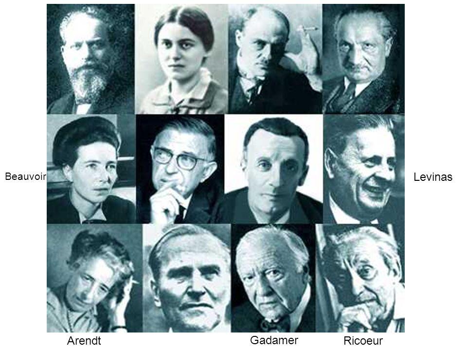 Beauvoir Levinas Arendt Gadamer Ricoeur