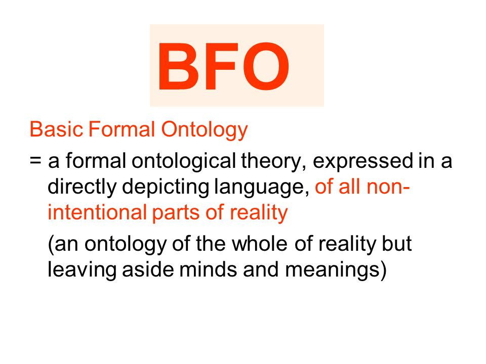 BFO Basic Formal Ontology