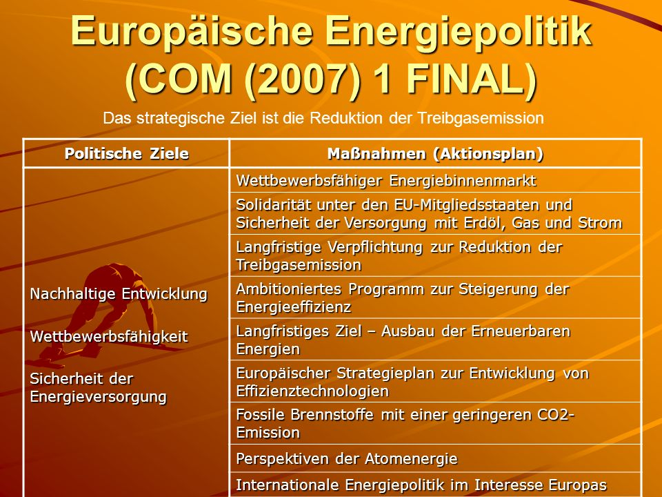 Europäische Energiepolitik (COM (2007) 1 FINAL)