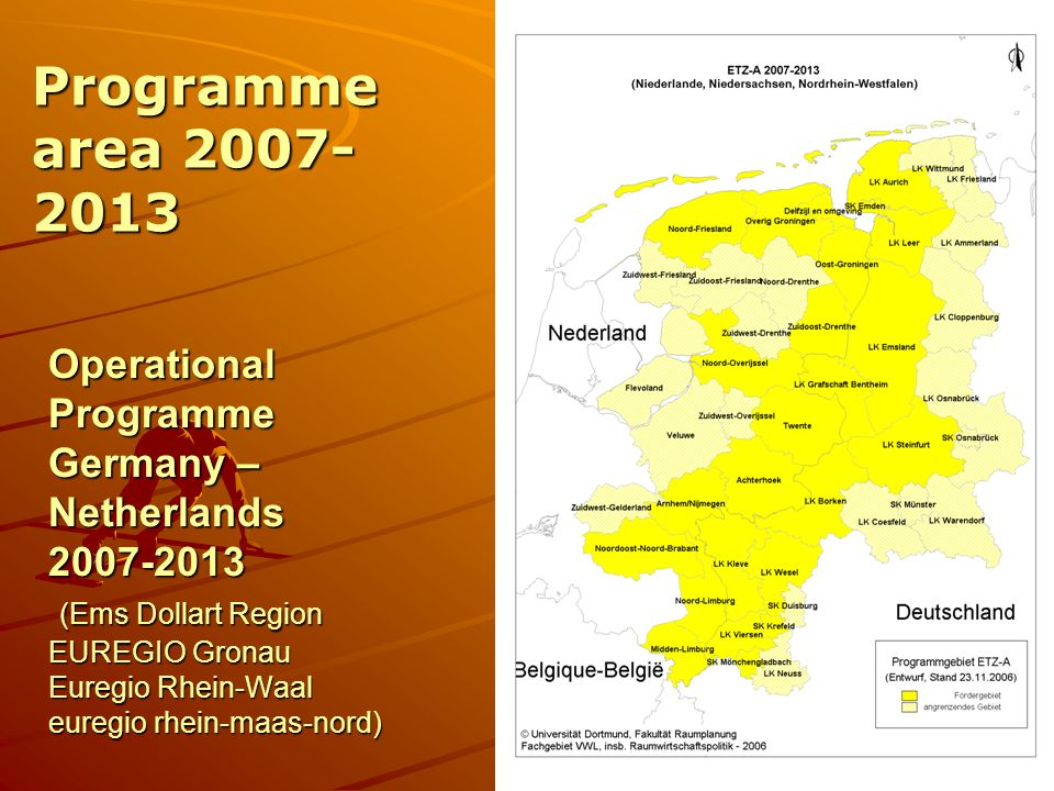 Programme area 2007-2013