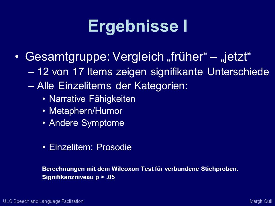 """Ergebnisse I Gesamtgruppe: Vergleich """"früher – """"jetzt"""