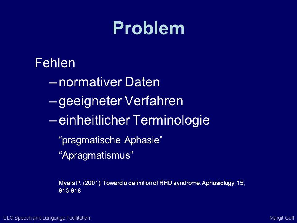 Problem Fehlen normativer Daten geeigneter Verfahren