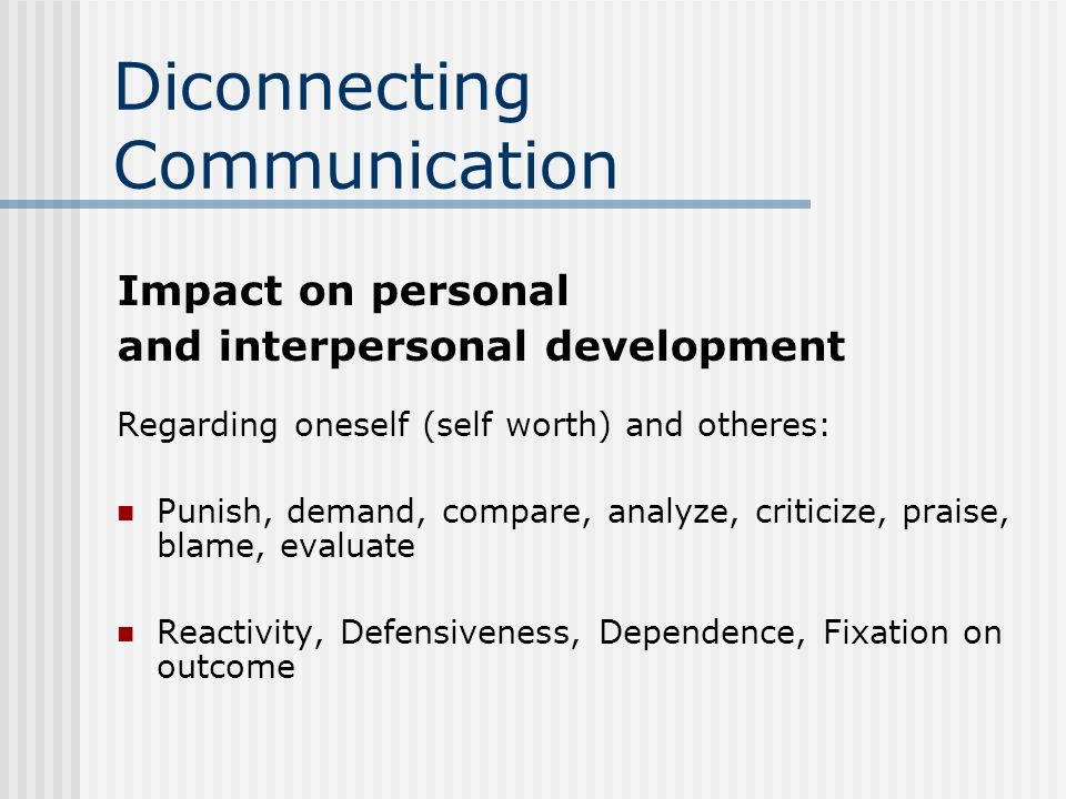 Diconnecting Communication