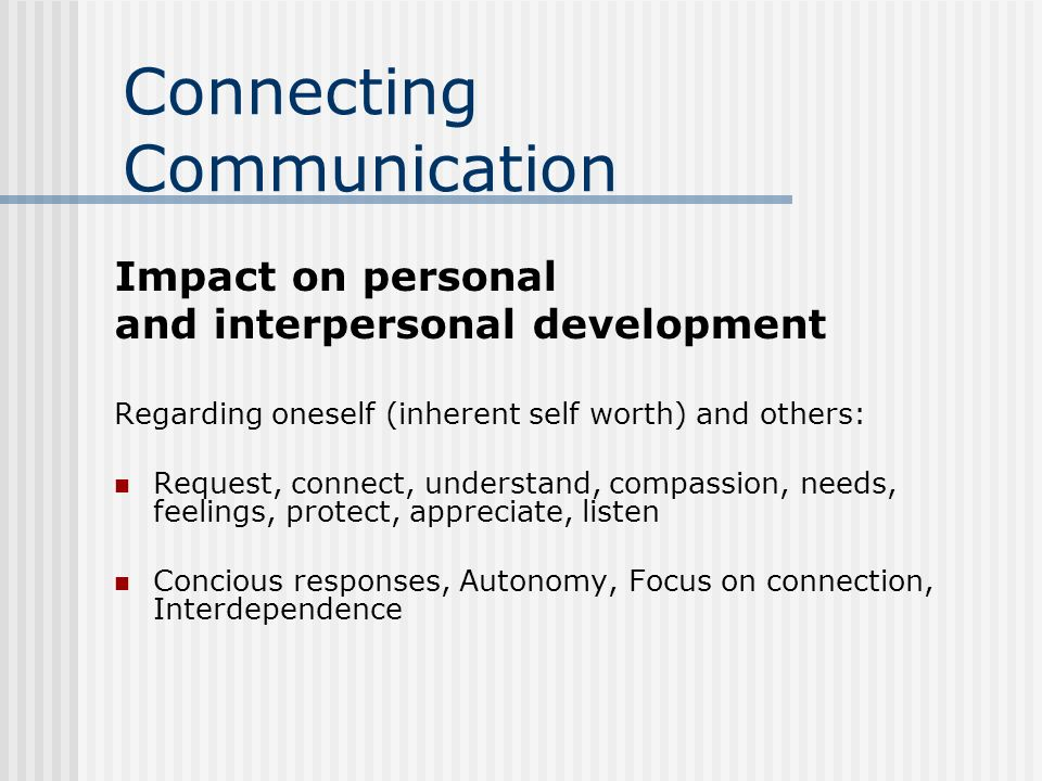 Connecting Communication