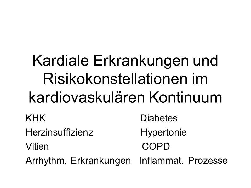 Kardiale Erkrankungen und Risikokonstellationen im kardiovaskulären Kontinuum