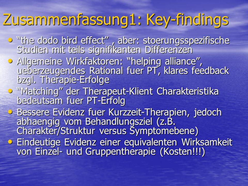 Zusammenfassung1: Key-findings