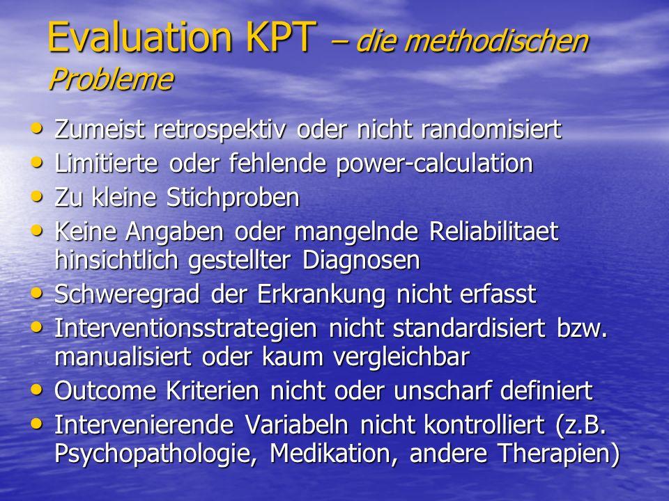 Evaluation KPT – die methodischen Probleme