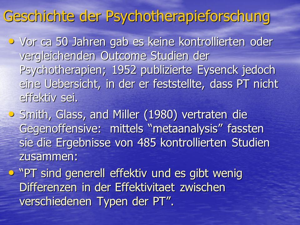 Geschichte der Psychotherapieforschung