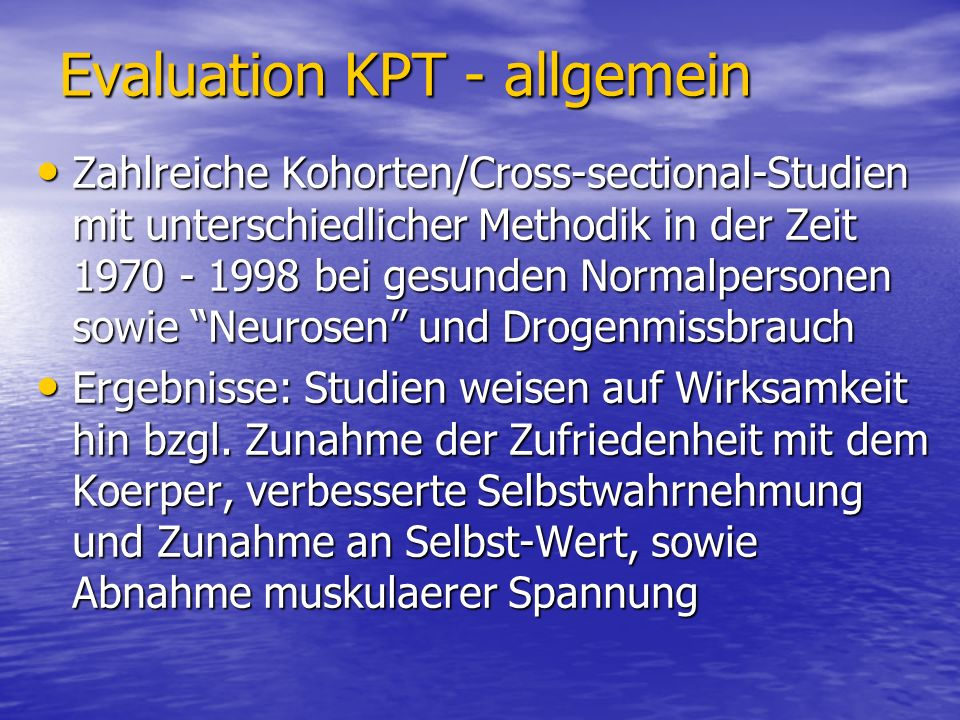 Evaluation KPT - allgemein