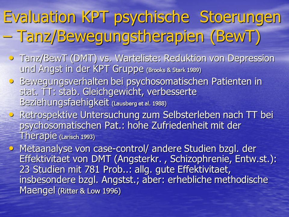 Evaluation KPT psychische Stoerungen – Tanz/Bewegungstherapien (BewT)
