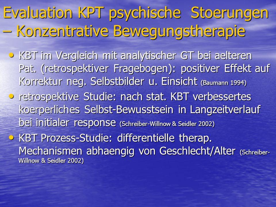 Evaluation KPT psychische Stoerungen – Konzentrative Bewegungstherapie