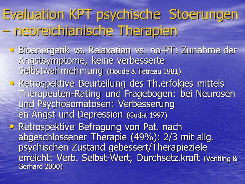Evaluation KPT psychische Stoerungen – neoreichianische Therapien