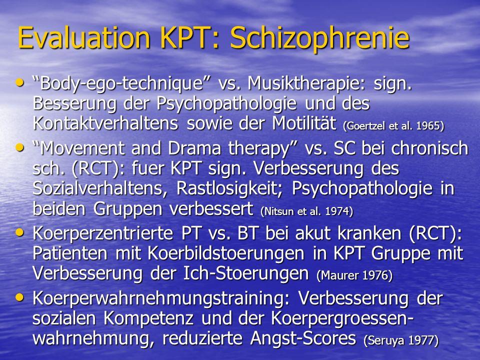 Evaluation KPT: Schizophrenie