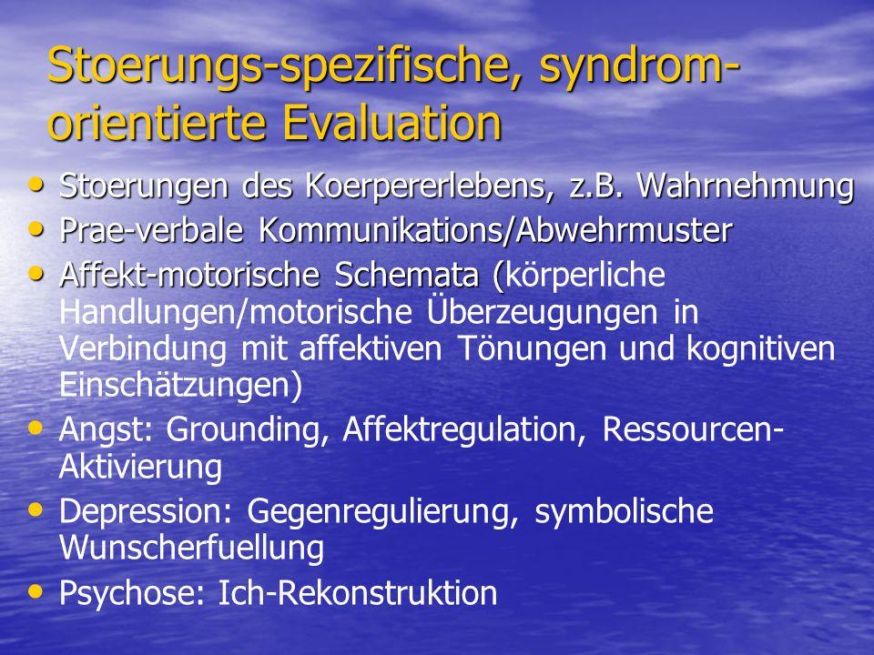 Stoerungs-spezifische, syndrom-orientierte Evaluation