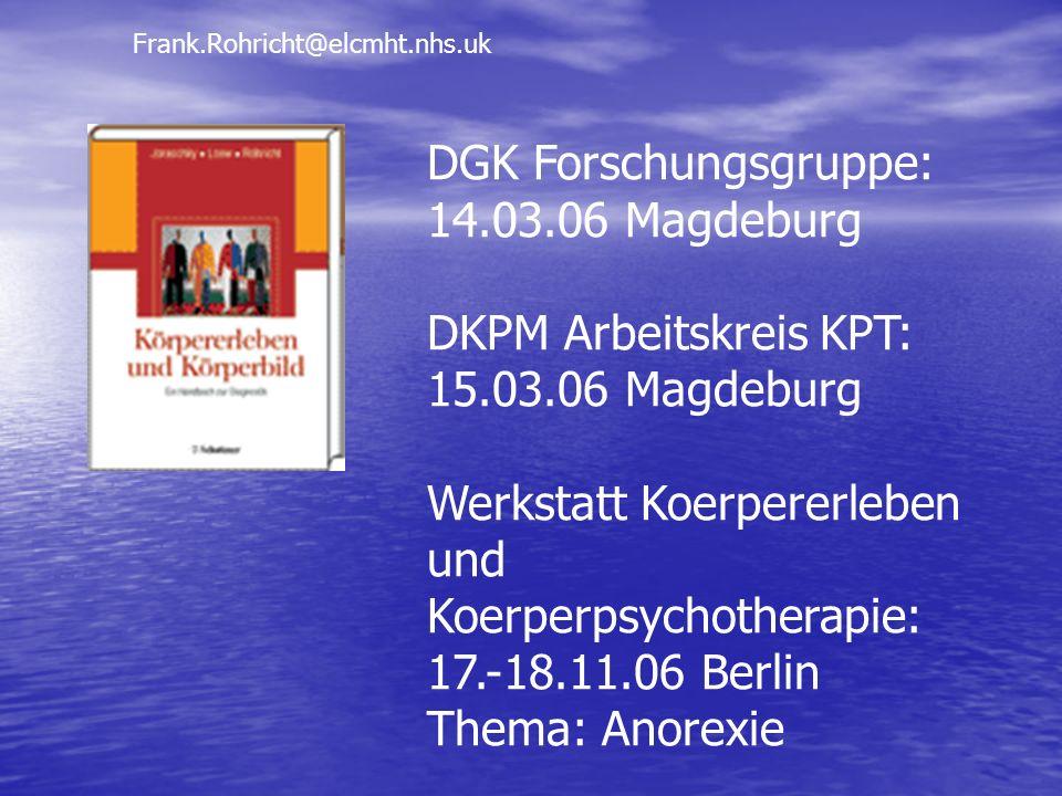DGK Forschungsgruppe: 14.03.06 Magdeburg