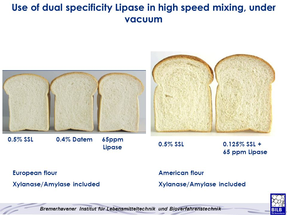 Use of dual specificity Lipase in high speed mixing, under vacuum