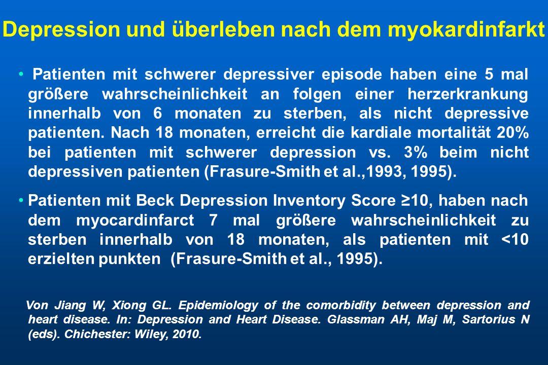 Depression und überleben nach dem myokardinfarkt