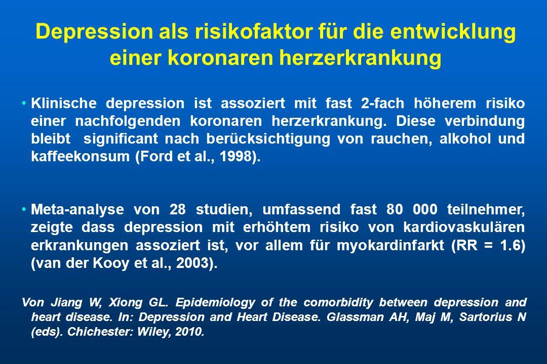 Depression als risikofaktor für die entwicklung einer koronaren herzerkrankung