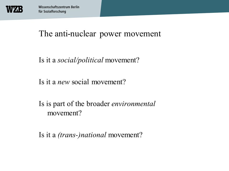 The anti-nuclear power movement