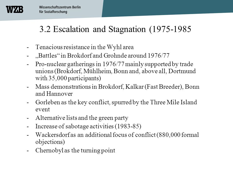3.2 Escalation and Stagnation (
