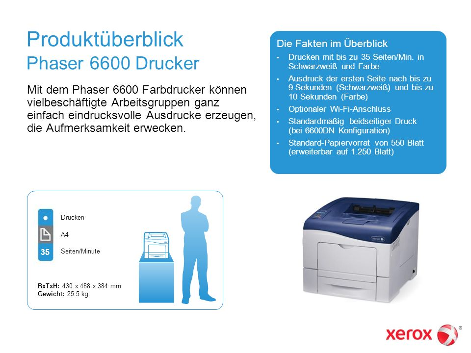 Produktüberblick Phaser 6600 Drucker